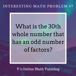 Math Problem for grades 6-8