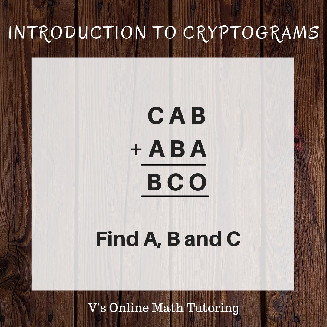 Cryptogram Math Puzzle - Grades 4-6
