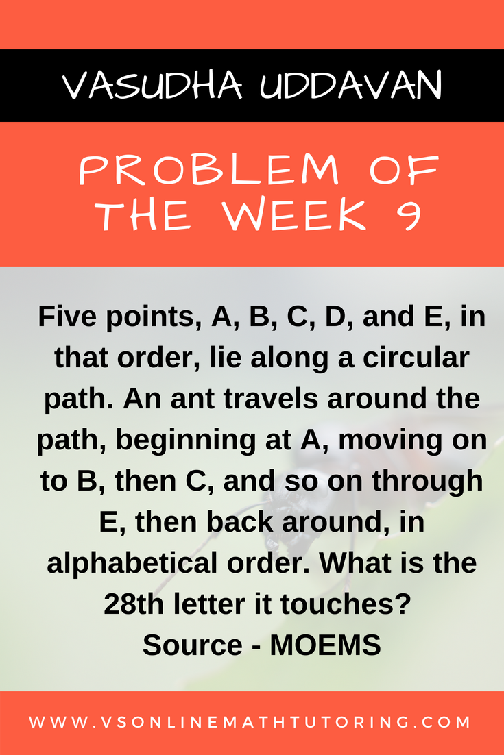 Math Competition Problems - Problem of the Week # 9