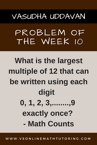 Math Counts Problem - Problem of the week #10