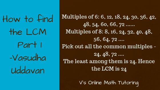 How to find the LCM of 6 and 8