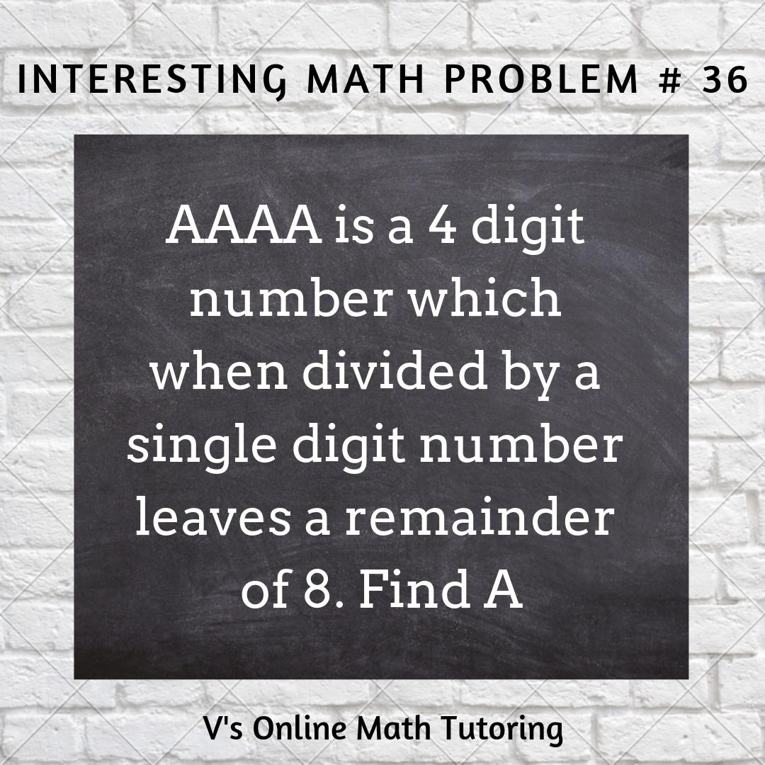 Remainder problem for grades 4-6