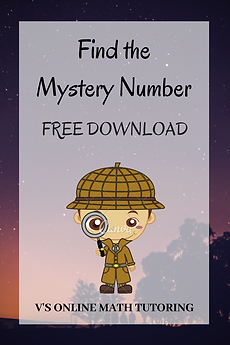 Find the mystery number - Summer activit