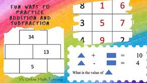 Fun ways to practice Addition and Subtraction