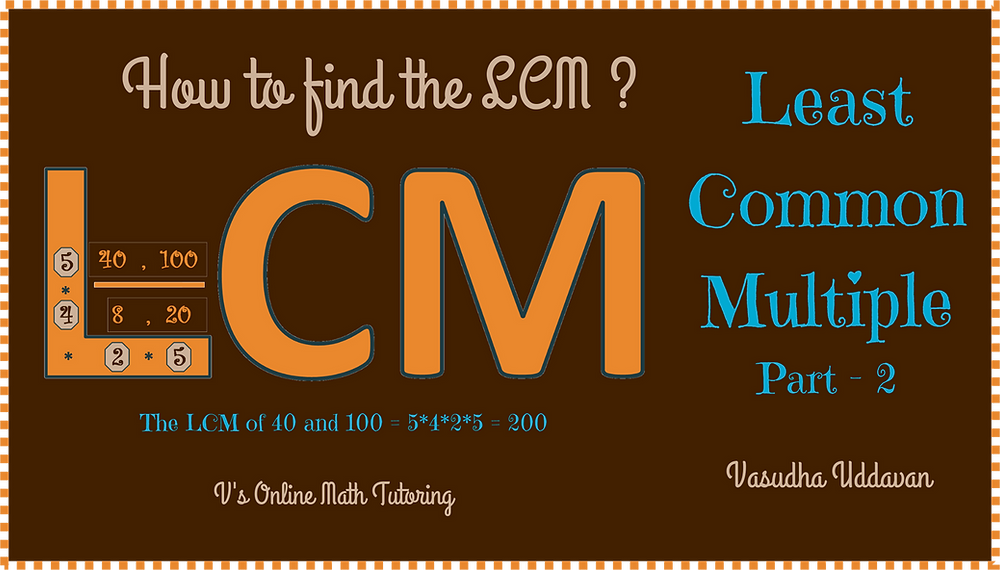 How to find the LCM by Ladder Method