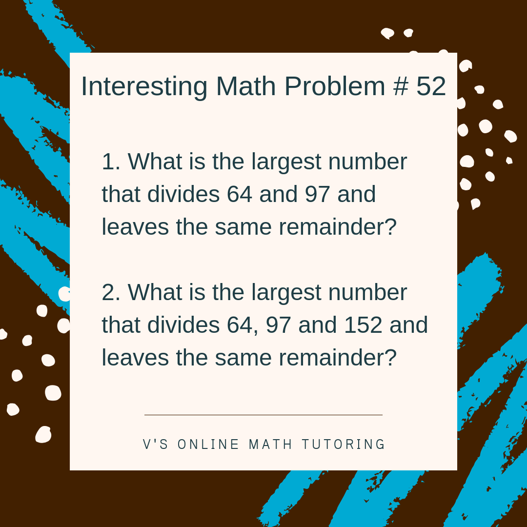 Math Enrichment for grades 6-9