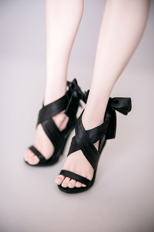 Black Ribbons Shoes