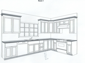 3 Katie Way kitchen cabinet layout