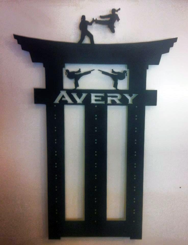 Avery Custom Karate Belt Holder