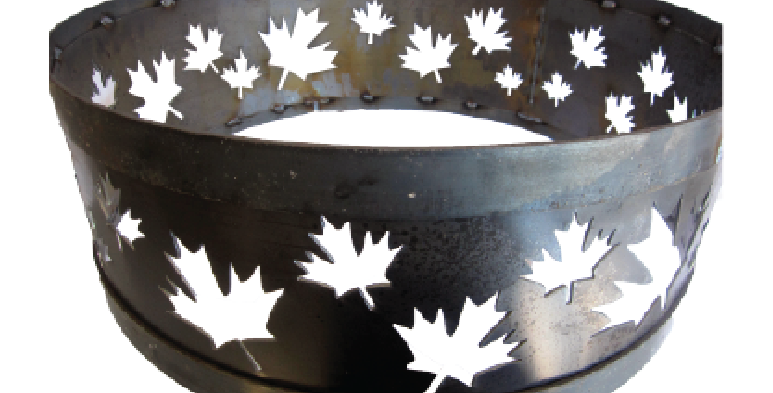 Maple Leaf Fire Ring