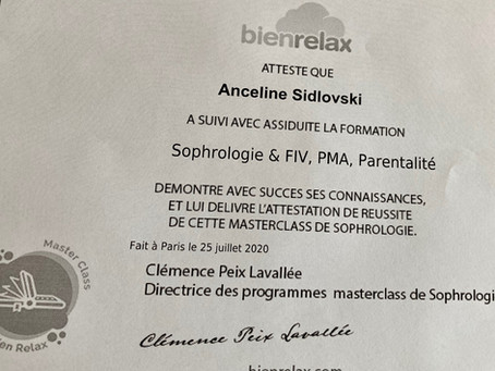 Certification  PMA / Sophrologie