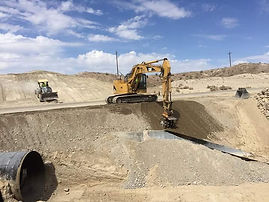 photo of road pipe install