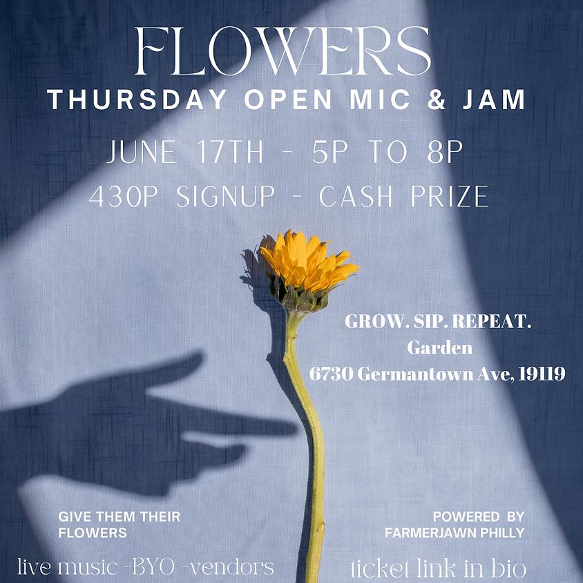 Flowers -- Open Mic & Jam
