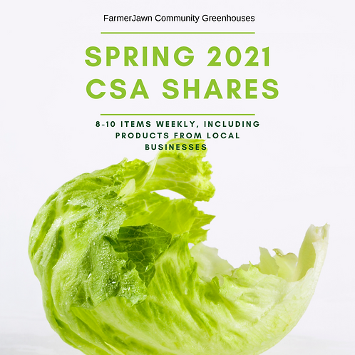 Spring 2021 CSA (Pay-As-You-Go Plan, $25/week after deposit)