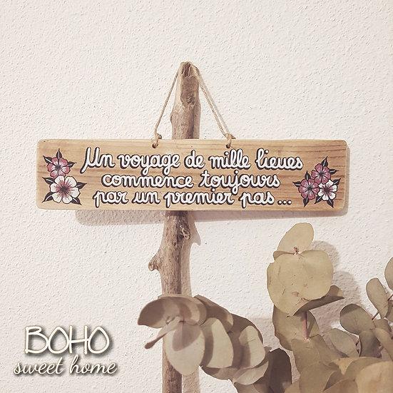 Pancarte en bois de palette ↠ Un voyage...