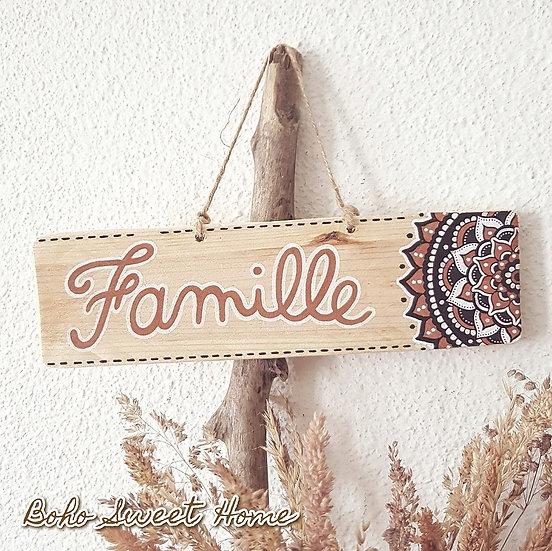 Pancarte en bois de palette ↠ Famille