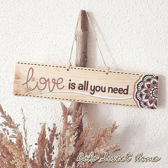 Pancarte en bois de palette ↠ Love is all you need