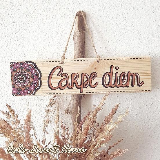 Pancarte en bois de palette ↠ Carpe Diem