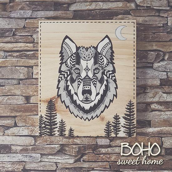 Tableau sur bois ❈ 𝐖𝐈𝐋𝐃𝐋𝐈𝐅𝐄 ❈ | Loup