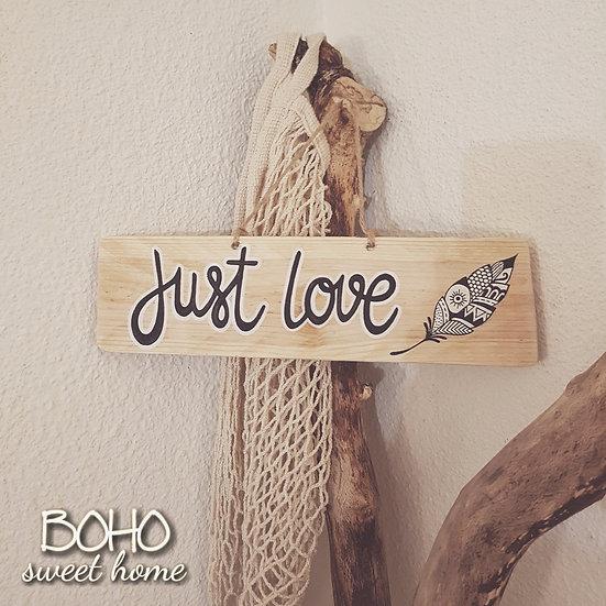 Pancarte en bois de palette ↠ Just Love