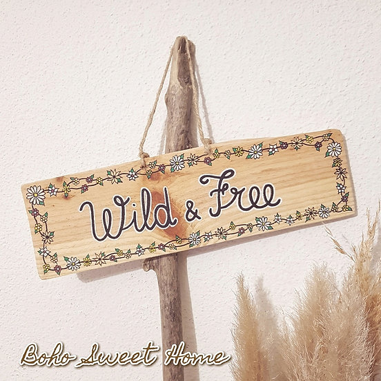 Pancarte en bois de palette ↠ Wild & Free