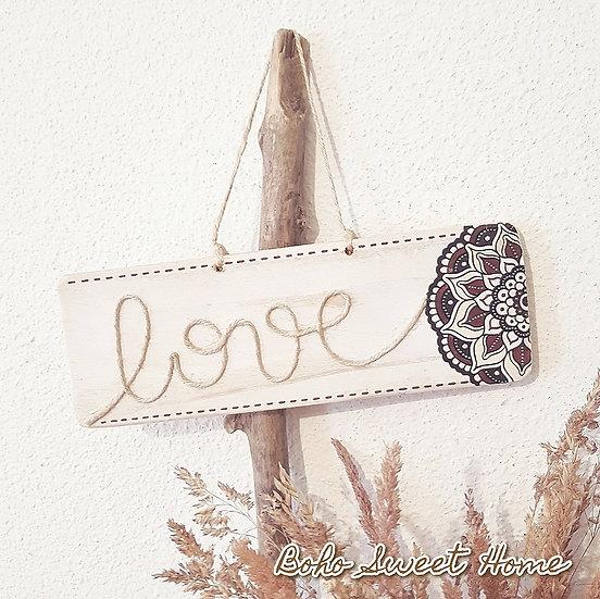 Pancarte en bois de palette ↠ Love