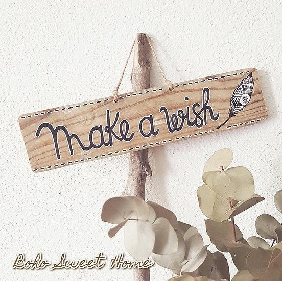 Pancarte en bois de palette ↠Make a wish