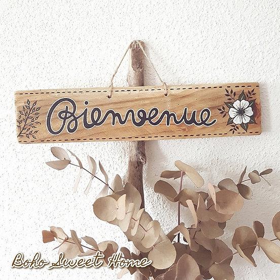 Pancarte en bois de palette ↠ Bienvenue