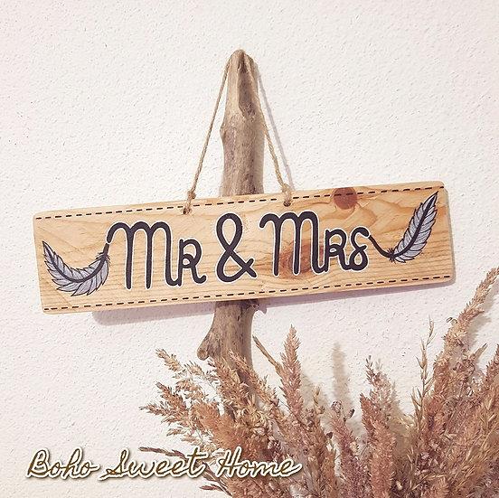 Pancarte en bois de palette ↠ Mr & Mrs