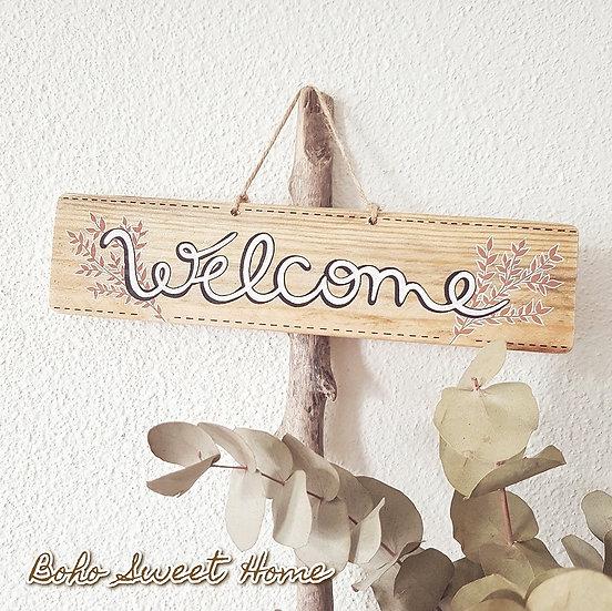 Pancarte en bois de palette ↠ Welcome