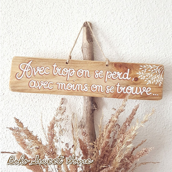 Pancarte en bois de palette ↠ On se trouve