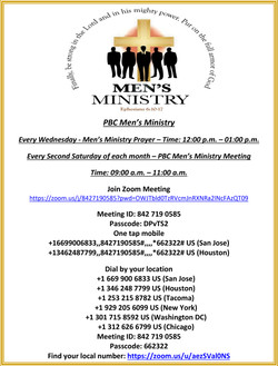 PBC Men's Ministry Flyer