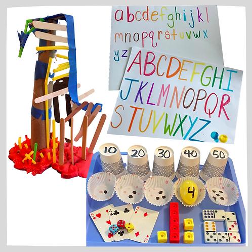 Unit 1 Bundle: Letters & Sounds, Counting & Number Sense, Home