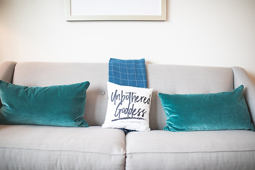Unbothered Goddess Square Pillow