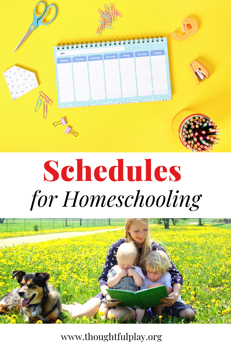 Here are some tips around homeschooling schedules, and example schedules for you to try out!