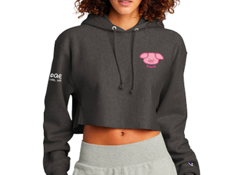 Champion ® x Bobae Women's Reverse Weave ® Cropped Cut-Off Hooded Sweatshirt