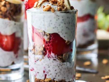 Morning Motivation: Strawberry Banana Chia Seed Pudding Parfait