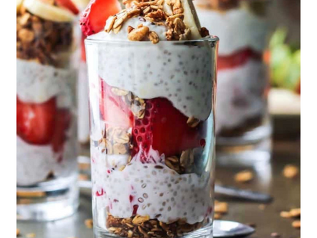 Monday Motivation: Strawberry Banana Chia Seed Pudding Parfait