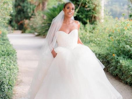 Issa Rae wears Custom Vera Wang Haute to her Wedding