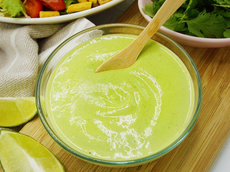 Creamy Cilantro Lime Vegan Dressing
