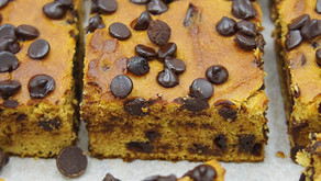 Chocolate Chunk Pumpkin Breakfast Squares (low carb, grain free)