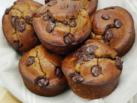 Double Chocolate Protein Muffins (grain free, low carb, dairy free)