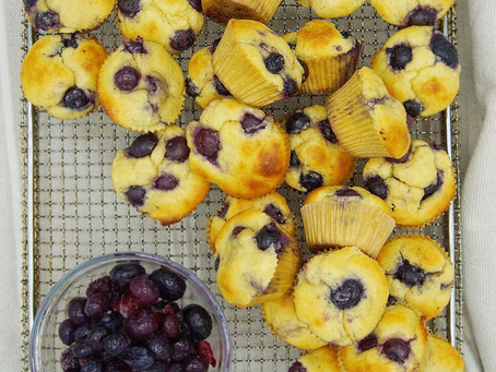 Healthy Blueberry Mini Muffins (Low Carb, Gluten Free, Dairy Free)
