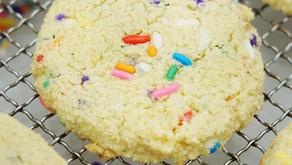 Birthday Cake Sugar Cookies (low carb, grain free, dairy free)