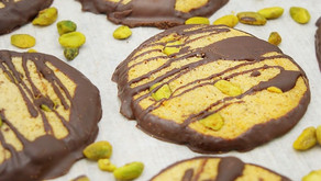 """Low Carb Pistachio Chocolate Covered """"Tate's Bake Shop"""" Inulin Cookies"""