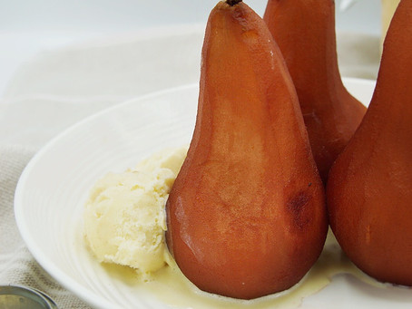 Poached Pears (no added sugar)
