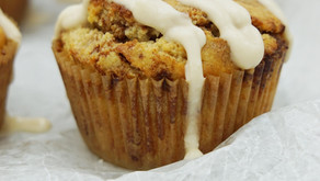 Low Carb Cinnamon Roll Muffins with Glaze