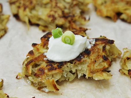 Lightened Up Potato Latkes (gluten free)
