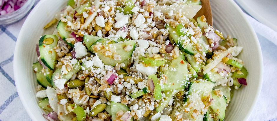 Crunchy Farro Salad
