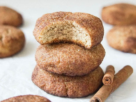 Low Carb Snickerdoodle Cookies (dairy free, grain free, sugar free)